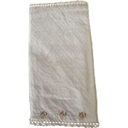 Embroidered Damask Doll House Towel