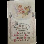 SALE PENDING Pair of Valentine Postcards 1900's