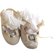 White Cloth Shoes For Doll