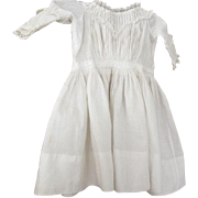 Doll Dress With Tucks and Lace, Covered Buttons Early, Antique