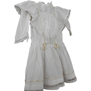 Doll Dress With Lots of Insertion Lace  Ribbon Trim