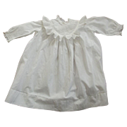 Victorian/Edwardian Baby Dress or Large Doll Dress Eyelet and Lace