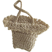 Vintage Crocheted Doll Purse