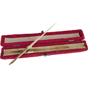 Mother of Pearl Pen In Red Velvet Case