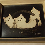Curry Print of Three Kittens