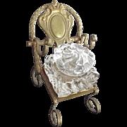 Swirled Inkwell On Metal Chair