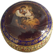 Carlsbad FSC Porcelain Covered Jar Czechoslovakia