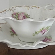 SALE Victorian Mayonnaise Dish With Underliner