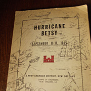 SOLD Hurricane Betsy U.S. Army Engineer New Orleans