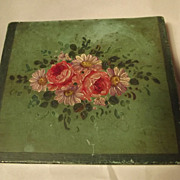 SALE Painted Tole Box