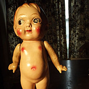 SALE Big Eyed Carnival Doll