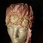 SALE Unique Flapper Art Deco Sleep Cap or Bonnet