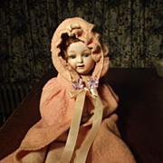 Pink Flannel Doll Cape