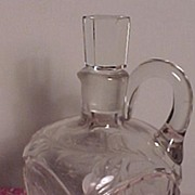 SALE Pretty Cut Glass Wine Decanter