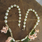 SALE PENDING Pretty Summer Floral Necklace