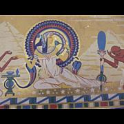 SALE Egyptian  Motif Tin Art Deco