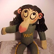 SALE PENDING All Felt William and Mary College Character Indian Mascot