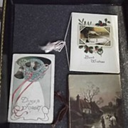 Lot of Early Christmas Cards