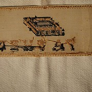 """Old Cross stitch Book Mark """"Father"""""""