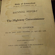 State of Connecticut Biennal Report  1907&1908
