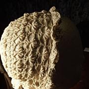 Silk Crochet Doll or Baby Cap