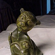 SALE Old Metal Bonzo and Cat