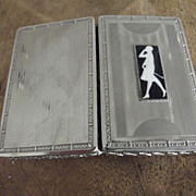 SALE Lady's Cigarette Case With Walking Lady