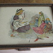 Small Picture Child With Dolls