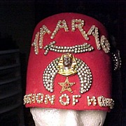 SALE Shriner's Felt Hat