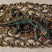 SALE Unique Vintage Lizard Pin