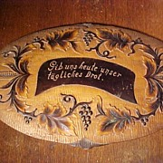 Old Wood Plaque With Blessing