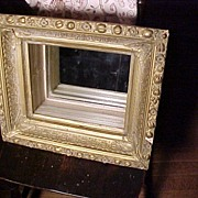 Vintage Hanging Shelf/Frame With Mirror