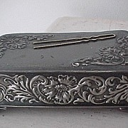 Silverplate Hairpin Holder Victorian