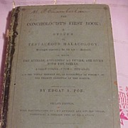 The Conchologist's First Book  By Edgar A. Poe 1840