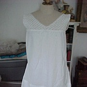 Cotton Nighgown With Embroidery