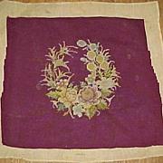 SALE Deep Burgandy Needlework