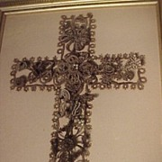 SALE PENDING Mourning Picture With Cross