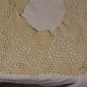 Pretty Large Crocheted Collar