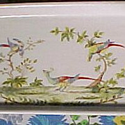 Vintage Painted Long Dish