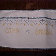 Embroidered Hot Water Bottle and Brush and Comb Holder