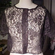 Vintage Black Lace Cover