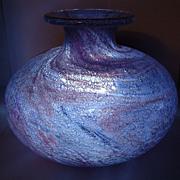 Sidse Werner Holmegaard Unik Art Glass Vase Lilac 'Troldglas' 1970s
