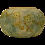 Crown Milano enamel decorated blue cracker or biscuit jar