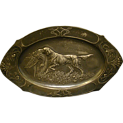WMF Jugendstil silverplate dog platter art nouveau
