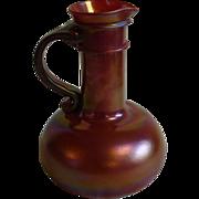 Dan Schreiber Columbus artist red blown art glass pitcher