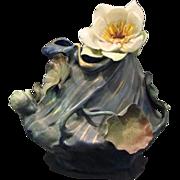 Ernst Wahliss Austria Amphora art nouveau iridescent floral vase