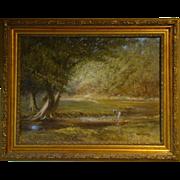 James Sulkowski Pennsylvania artist oil painting woman at stream
