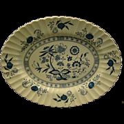 "J&G Meakin English Ironstone Blue Nordic large oval serving platter 16"""