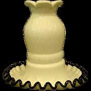 SALE PENDING Fenton black crest ebony fairy lamp whimsey rare