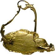 German silverplate silver plate art nouveau form handled tray